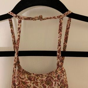 Walter Baker Tops - Patterned Strappy Tank With open back